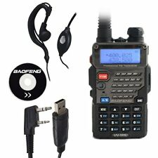 Baofeng UV-5RE Dual Band UHF / VHF Two Way FM Ham Radio + UV-5R E USB Cable US
