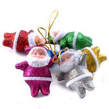 6 PIÈCES Coloré Noël Père Fête Décorations Arbre De Décoration À Suspendre