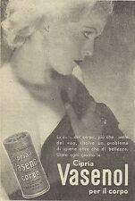 W6507 Cipria Vasenol per il corpo - Pubblicità 1953 - Advertising