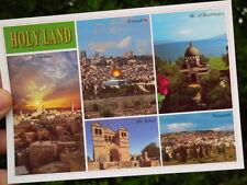 Holy Bible Land Postcard in Footsteps of Jesus Jerusalem Bethlehem Tabor Nazaret