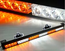 Truck 24LED Amber/White Emergency Traffic Advisor Flash Strobe Light Bar Warning
