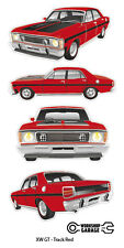 FORD FALCON XW GT HO 351 -  STICKER PACK Track Red 4 LARGE STICKERS
