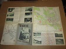 VARESE CARTA TURISTICA DEL VARESOTTO ANNO 1939