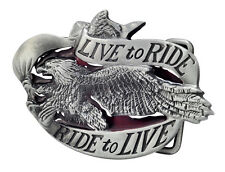 LIVE TO RIDE Eagle Belt Buckle Biker Motorcycle Unique Metal New Hip Cool