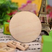 50pcs Unfinished Wooden Round Discs Embellishments DIY Rustic Art Crafts 30mm