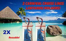 2 Carnival Cruise Lines I.D. Holders & Lanyards Especially For Sail & Sign Card