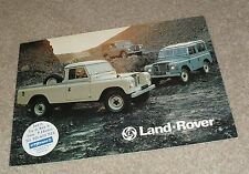 "Land Rover Brochure 1977 - 88"" SWB 109"" LWB Station Wagons - Hard Top - Pick Up"