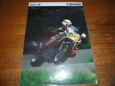 Prospekt Sales Brochure Yamaha FZR1000 Motorrad Bike Moped Mokick Moped