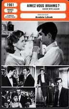 AIMEZ-VOUS BRAHMS ?- Bergman,Montand,Perkins (Fiche Cinéma) 1961 - Goodbye Again