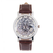 Men Mechanical Gear Wristwatches Leather Imitation machinery Watch HOT