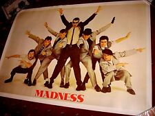 MADNESS 7 - ORIGINAL LICENSED POSTER FROM 1981 - SUGGS SPECIALS TWO 2 TONE
