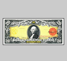 BEP Proof Print - $20 Gold Certificate 1905 (face) Technicolor Note
