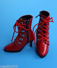 *LUTS*  SGS-04 SLENDER   (Red) BOOTS~SHOES for BJD SD doll