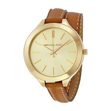Michael Kors Runway Tan Leather Ladies Watch MK2256
