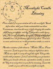 Moonlight Candle Blessing, Book of Shadows Spell Page, Wicca, Witchcraft, Pagan