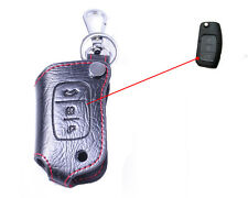 Remote Genuine Leather Key Chain Cover Case Holder for FORD FOCUS FIESTA MONDEO