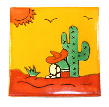 Fairly Traded Handmade Ceramic Mexican Talavera Tile - 'Alonzo' (T12860-1)