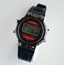 Vintage Quemex Mens LCD Digital Alarm Chrono Watch New Bettery Working Great!!!