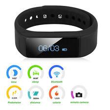 Bluetooth Smart Bracciale Orologio Da Polso Sport Contapassi Per iPhone Android