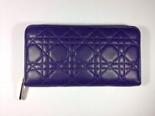Authentic Christian Dior Lady Dior Voyageur Violet Wallet (NWT)