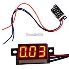GT56 Mini DC 0-100V Red LED 3-Digital Display Voltage Voltmeter Panel Motorcycle