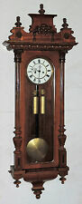 GUSTAV BECKER ANTIQUE VIENNA REGULATOR 2 WEIGHT WALL CHIME CLOCK WORKING GERMAN