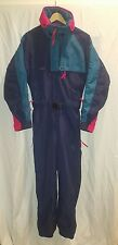 Mens Vintage COLUMBIA SPORTSWEAR Snow Ski Board One Piece Suit Navy Blue Small