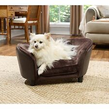 Enchanted Home Pet Ultra Plush Brown Basketweave Small Snuggle Pet Bed