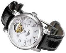 Tissot Lady Heart T0502071603200 Automatic Women's Leather Strap Watch - NEW