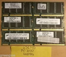 256MB Laptop Memory RAM PC2100 266MHz 200Pin DDR Sodimm