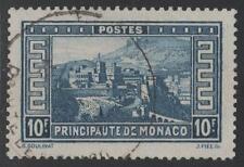 """MONACO STAMP TIMBRE N° 133 """" PALAIS PRINCIER 10F BLEU """" OBLITERE TB K396"""