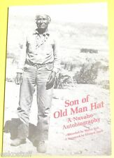 Son of Old Man Hat 1967 A Navaho Biography - No Pictures Western History See!