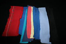 Vtg Ribbed Knit Stretch Collar Cuffs Remants for Doll Clothes Crafts Fabric Lot