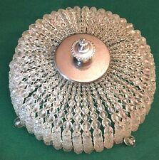 Rare Vintage Beaded Crystal Balls Dome Lamp Shade Made in Czechoslovakia