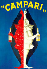 Art Ad Campari Drink Alcohol Drinks Pub Bar Chic Deco   Poster Print