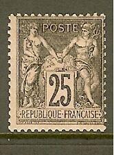 "FRANCE STAMP TIMBRE N° 97 "" TYPE SAGE 25c NOIR SUR ROSE "" NEUF x A VOIR"