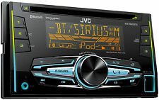 JVC KW-R920BTS Refurbished Double DIN Bluetooth In-Dash Car Stereo with XM Ready