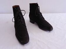 Used Womens 36 6 TOD'S Brown Suede Moccasin Toe Laced Ankle Boots MADE IN ITALY