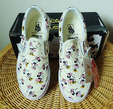 NEW IN BOX Disney Vans Classic Slip On Minnie Mouse Tennis Shoes Kids Youth 2.5