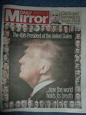 DAILY MIRROR TRUMP UK NEWSPAPER 20/01/2017 POST WORLDWIDE