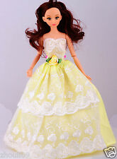 Children's toys Princess Party Dress/Evening Clothes/Gown For Barbie Doll  1066