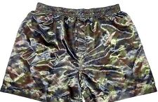 MEN'S SEXY SATIN CAMO CAMOUFLAGE BOXER SHORT SIZE LARGE NEW $20.00