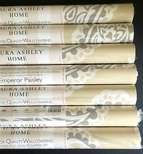 Neuf laura ashley empereur paisley or papier peint rouleaux wallcovering prix pr roll