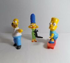 Lot 3 The Simpsons PVC Toy Figures Homer Football Marge Cat Bart Skateboard