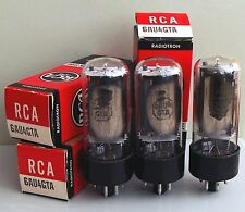 3 x RCA 6AU4-GTA half-wave rectifier tubes, NIB, same batch code 63EX3
