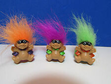 SET OF THREE RARE HALLOWEEN MASKED MAN  RINGS - Russ Troll Dolls - NEW - SALE