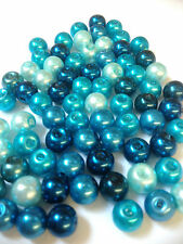 205 x 6mm Glass Pearl Round Beads, 6mm Size Jewellery Making!