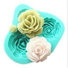 Rose Flower Silicone Mould Sugarcraft Fondant Cake Decor Fimo Crafts