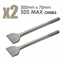 2X SDS MAX Chisels 300mm x 75mm Spade Bit Breaker Drill Long DIY