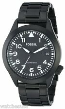 Fossil Men's Recruiter Black Stainless Steel Bracelet Watch AM4564